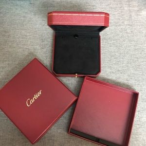Cartier gift box with necklace box